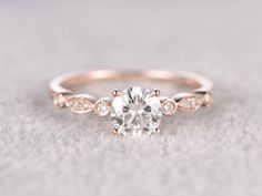 Budget Friendly Mossanite Engagement Ring