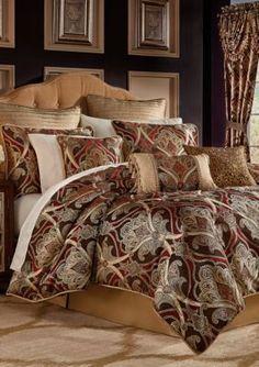 Croscill Red Bradney King Comforter Set