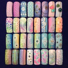 Pin by Amanda Young on Nails Nail Art Blog, Gel Nail Art, Nail Polish, Nail Nail, Acrylic Nails, Nails & Co, Diy Nails, Nail Art Modele, Airbrush Nails