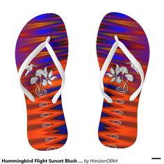Shop Hummingbird Flight Sunset Blush Flip Flops created by HorizonOfArt. Neon Sandals, Flip Flop Sandals, Flip Flops, Flip Flop Art, Shoe Shop, Hummingbird, Summer Fun, Blush, Sunset