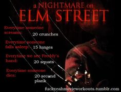 Nightmare on Elm Street workout! Want to see more workouts like this one? Follow us here.