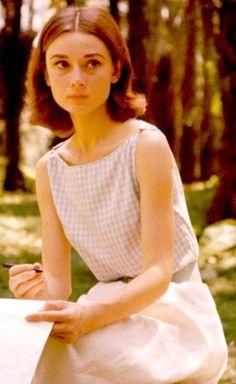A young Audrey Hepburn