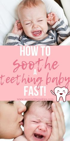 How to Soothe a Teething Baby How to soothe a teething baby fast! How to Soothe a Teething Baby How Teething Baby Relief, Teething Baby Gums, Baby Teething Chart, Baby Teething Symptoms, Baby Teething Remedies, Signs Of Teething, Get Baby, Baby Sleep, Baby Baby
