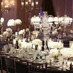 vintage rustic romantic wedding , indoors , reception , seating , centerpieces , lights , lamps , flower , photo ,  Glamorous Reception Decor