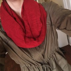 Red infinite scarf Light weight scarf from Charlotte Russe, perfect for a…