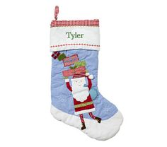Santa Quilted Stocking | Pottery Barn Kids  Tyler's stocking!