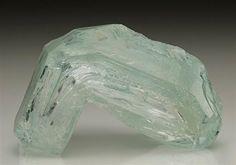 An intriguingly strange crystal development of Aquamarine from Medina, Brazil. Crystal Classics Minerals