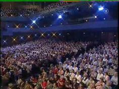 """André Rieu & Florian Silbereisen with """"Lord of the Dance""""."""