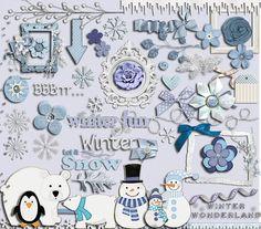 Frozen Winter Frost Digital Scrapbook Kit by DigiScrapDelights