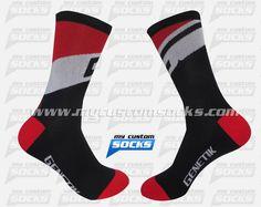 Socks designed by My Custom Socks for Genetik in Charlesbourg, Canada. Cycling socks made with Coolmax fabric. #Cycling custom socks - free quote! ////// Calcetas diseñadas por My Custom Socks para Genetik en Charlesbourg, Canada.Calcetas para Cyclismo hechas con tela Coolmax. #Cyclismo calcetas personalizadas - cotización gratis! www.mycustomsocks.com