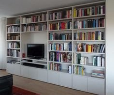 Boekenkast | Kastenwand | Pinterest | Organizing, Shelves and Living ...