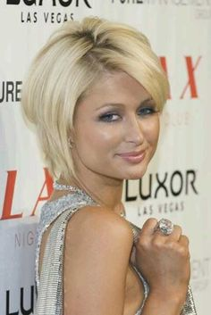 Paris Hilton short haircut