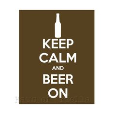 Beer Sign Art Drinking Decor Print Carafe Brown by HausofAriella, $15.00