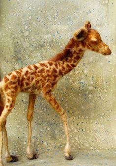 Zuri: Day 17 Needle Felted Giraffe.