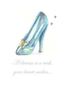 Cinderella's Glass Slipper Illustration by kelleyhughesdesigns