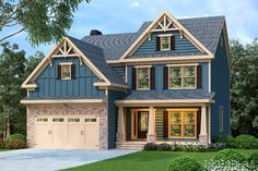 2506 Square Feet 4 Bed/3 Bath Craftsman House Plan, Family