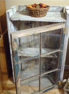 Reuse old windows with old barn wood to build a small closet. - Reuse old windows with old barn wood to build a small closet.