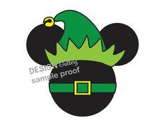 Mickey Mouse Santa Elf Disney Christmas image DIY Printable Iron On t shirt Transfer Instant Download