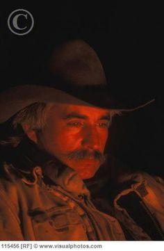 cowboy at campfire