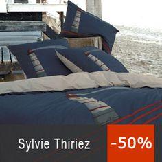 Housse de couette 260x240cm - Une nuit en mer par Sylvie Thiriez