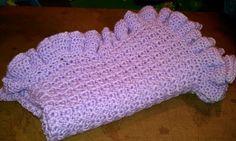 Kenzie's Ultimate Ruffle Edged Crochet Baby Blanket w/Tutorial!