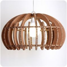 DIY cardboard lamp designs upcycling ideas pendant lamp original shape