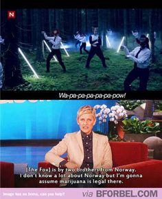 Ellen being Ellen…