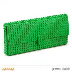 Green clutch made entirely of LEGO bricks di agabag su Etsy, $180.00