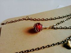 Murano Glass Rose Pendant
