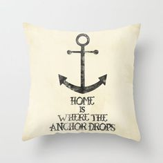Where The Anchor Drops Throw Pillow by Zach Terrell | Society6