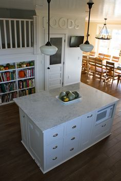 incredibly functional island - read her descriptions of the contents of the drawers