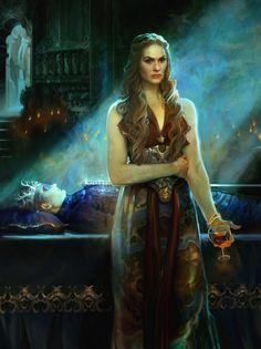 Game of Thrones/ Cersei Lannister at her sons Joffrey Baratheon/Lannister wake.