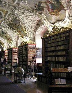 Strahov Monastery Library, Prague. I might bring along a sleeping bag, and never leave.