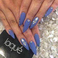 Periwinkle stiletto nails