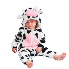 (KID STATION) baby boy girls rompers clothes new born baby Cartoon Jumpsuit warm spring autumn winter animal for boy snowsuit Disney Baby Costumes, Baby Animal Costumes, Cow Costumes, Halloween Costumes, Baby Halloween, Baby Kostüm, Baby Girl Newborn, Baby Kids, Baby Outfits