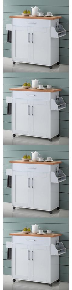 White Portable Kitchen Island kitchen islands kitchen carts 115753: microwave stand table with