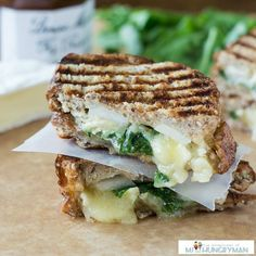 Brie, Fig and Pear Panini