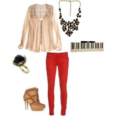 Great date outfit i would probably do black jeans:)