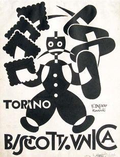 Fortunato Depero (1892-1960), Biscotti Unica.