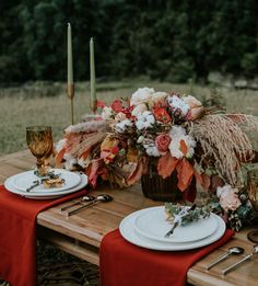 Stylish and Wildly Romantic Adventure Elopement in Vietnam Boho Wedding Flowers, Boho Wedding Decorations, Rustic Wedding Centerpieces, Fall Wedding Colors, Autumn Wedding, Rustic Wedding Inspiration, Elopement Inspiration, Hipster Wedding, Rustic Wedding Reception