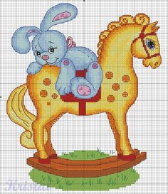 Rocking horse x-stitch