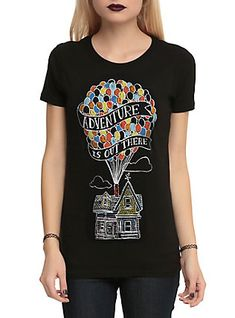 Disney Up Adventure Is Out There Girls T-Shirt, BLACK