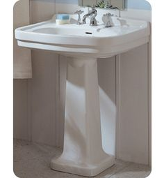 Whitehaus Collection China Large Pedestal Bathroom Sink with Blacksplash Bathroom Vanities For Sale, Bathroom Sink Vanity, Sinks, Pedestal, Backsplash, Home And Family, New Homes, China, Design