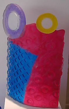 """Warren Langley, """"Round and Round,""""  kiln formed glass, http://www.morganglassgallery.com/imagepages/46.288.htm"""