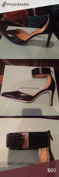 Fierce new Antonio Melani heels Zips up back and straps around the ankle. Sexy, fierce gorgeous and new ANTONIO MELANI Shoes Heels