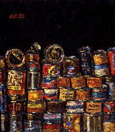 1990 series 'Gastronom' by Aleksandr Popov (b1951 In  Moscow ~ aka Kagorov ~ aka Rdnaskel Popov) | La Trace Gallery Paris France