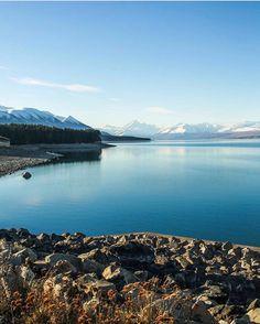 Pukaki blue. #NZMustDo [📍Lake Pukaki, South Island. ���
