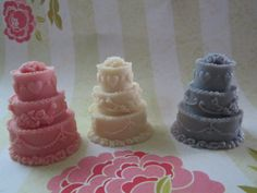 Scented Wax Melts  Wedding Cake Shape Scented  by sweetcandlemelts