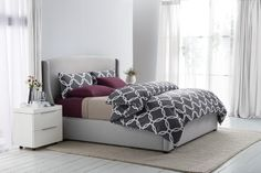 Sleep Number® Smart Classics Printed Duvet Set in Pewter