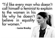 Just one more reason to love the wonderful Louise Brealey: she isn't afraid of the word 'feminist.' Thanks for the invite to the board :)
